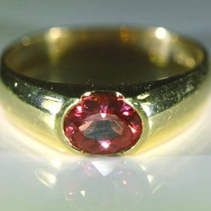 Jewelry - Red Mahenge Spinel 1.06ct Solid 18K Gold Ring